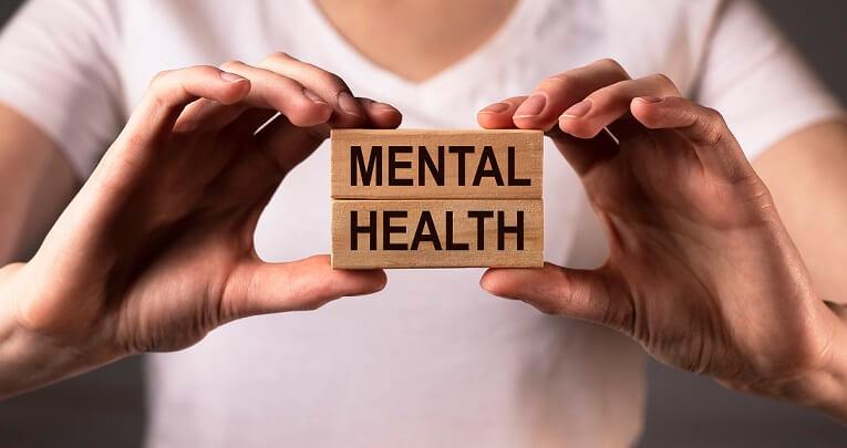 mental health written on blocks